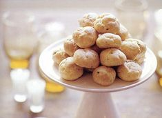Cheddar-Chive Gougeres by Tori Ritchie  a perfect accompaniment to wine