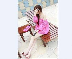 f87ef0ece3d Buy Charming Lovely Boat Neck Chiffon Blouse Rose with cheapest  price