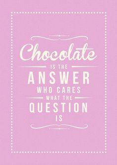 Chocolate Answer Art Print