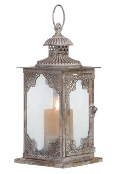 A rustic yet elegant lantern. HomeDecorators.com
