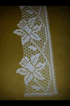 My Crochet Dream Crochet Boarders, Crochet Lace Edging, Crochet Squares, Crochet Doilies, Filet Crochet Charts, Crochet Stitches, Knit Crochet, Crochet Shawl, Free Crochet