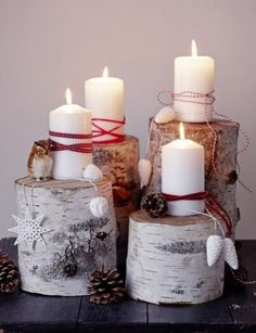 Make Advent wreath itself- Adventskranz selber machen Here come moody ideas for homemade Advent wreaths – from pure nature to modern. Advent Candles, Christmas Candles, Winter Christmas, All Things Christmas, Christmas Home, Christmas Wreaths, Christmas Crafts, Merry Christmas, Holiday