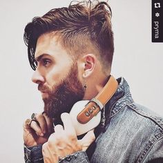 The makers of Sonus Faber are releasing the first handmade in Italy high performance headphones releasing September Check out Mens Hairstyles With Beard, Haircuts For Men, Cool Hairstyles, Beard Styles For Men, Hair And Beard Styles, Hair Styles, Perfect Beard, Beard Love, Portrait Photography Men