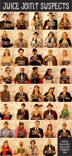 We attended this roaring twenties party and had a blast. My mug shot is at the top! Mafia Party, Prohibition Party, Speakeasy Party, 1920s Speakeasy, Great Gatsby Party, Nye Party, Work Party, Roaring Twenties Party, Roaring 20s Theme