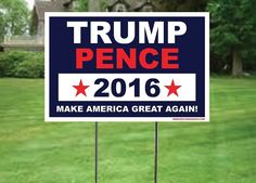 Amazon.com: Donald Trump Sign - 2016 Election - 12x16 - Single Sided Yard Sign and Stake Laser Cut Corrugated Plastic - Fast Delivery!: Industrial & Scientific