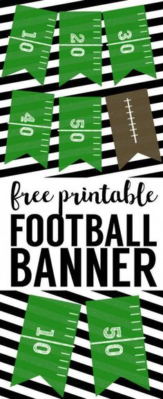 This DIY football banner printable is easy and simple for your super bowl party or kids football birthday party. Kids Football Parties, Football Party Decorations, Football Birthday, Dad Birthday, Boy Birthday Parties, Birthday Party Decorations, Birthday Ideas, Football Party Favors, Football Banquet