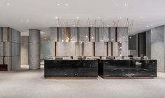 Ceiling Design, Wall Design, Moving Walls, Marble Wall, White Marble, Lobby Interior, Counter Design, Private Dining Room, Lobby Design
