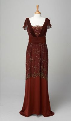 exhibition | Downton Abbey Exhibit.. Lady Mary .. Inspiration for Catharine's dress for Madeleine's engagement party.