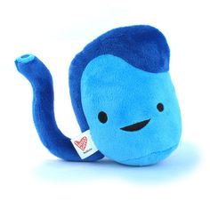 "Testicle Plush  by I Heart Guts, 39% off (""Go absolutely nuts snuggling the Testicle Plush. This super-soft blue testis plush comes with a handy tag telling you all about your balls. So you'll finally be able to drop knowledge like this: these family jewels produce both sex hormones and sperm."")"