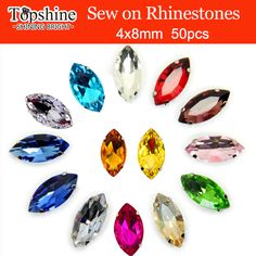 Find More Rhinestones Information about 50pcs/pack Horse Eye Shape Crystal glass Sew On Rhinestone with Claw apply to Clothing Decoration 4x8mm,High Quality bead chain,China decor beads Suppliers, Cheap beads bath from TopShine Garment Acc. (48 hours shipping) on Aliexpress.com