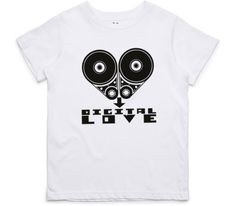 El Cheapo Digital Love (Black) Youth White T-Shirt