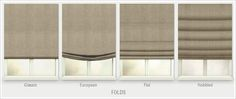 Cordless roman shades from Select Blinds are custom made & add the elegance of drapes w/ the versatility of window shades. Lots of colors & fabrics on hand! White Roman Blinds, Linen Roman Shades, Drapes And Blinds, Shades Blinds, Blinds For Windows, Classic Roman Blinds, Modern Roman Blinds, Bedroom Blinds, Window Blinds