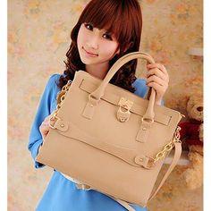 Hanako - Womens fashion beige shoulder #handbags