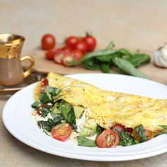 Fresh Mozzarella Omelettes with Tomato, Basil & Avocado. You are getting hungry, very, very hungry...