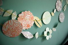 Bits and Pieces Letterpress DIY Garland Kit by 1canoe2 on Etsy