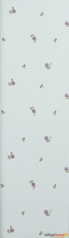 Tapete Rasch Textil Blooming Garden Satintapete 001135 Blumen grau violett Tapeten Rasch Textil Blooming Garden