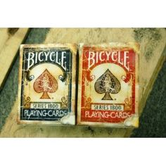 Brand-new playing cards (Bicycle 1800 Vintage Series Playing Cards by Ellusionist) designed to look vintage - great for crafting! $5.99 on Amazon