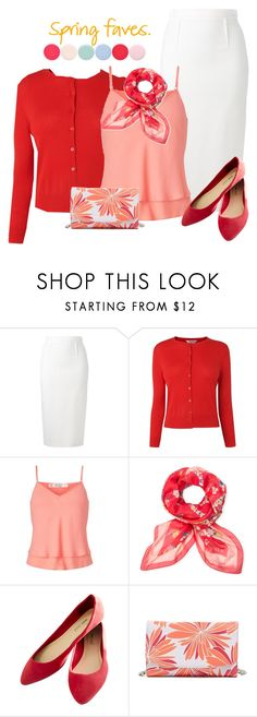 """coral & red spring"" by rvazquez ❤ liked on Polyvore featuring Roland Mouret, L.K.Bennett, Miss Selfridge, Furla, Wet Seal, Halogen, Nails Inc. and Spring"