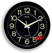 Ajanta Oreva Night Glow Plastic Analog Wall Clock 30 6 Cm X 4 25 Cm X 30 6 Cm Black Aq 1837 Clock Wall Clock Wall Clock Price