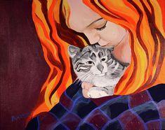 Kristin and Penny II by Sarah Hamilton Acrylics, Hamilton, Disney Characters, Fictional Characters, Aurora Sleeping Beauty, Design Inspiration, Paintings, Wall Art, Disney Princess