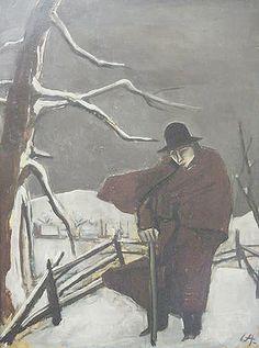 1924 Karl Christian Ludwig Hofer aka Carl Hofer (German, 1878~1955)