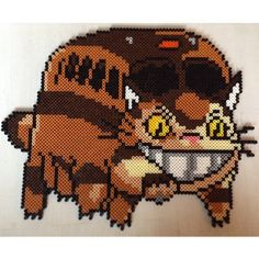 Catbus - Totoro perler beads by jushou