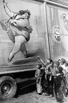 the fat lady at the circus.