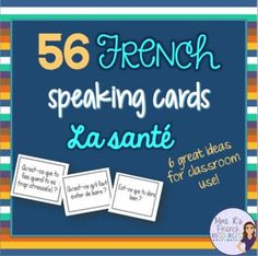 Want to get your French students using their health and wellness vocabulary? Need help with a fun way to encourage your intermediate to advanced students to speak more ?This NO PREP activity is always a favorite in my class.It can be used after learning specific vocabulary or as a fun interactive activity on a day when you need to change it up!