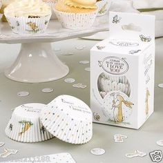 New baby shower christening party guess how much I love you 100 cupcake cases