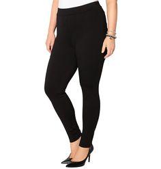 fc68cb5d2d8168 Avenue Women's Zip Hem Ponte Legging ** Trust me, this is great! : Plus  size leggings