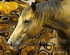 Horse Art Southwestern Home Decor Native by GrayWolfGallery