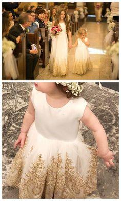 c1d030516c3 Modern Satin   Tulle Scoop Neckline Floor-length A-line Flower Girl Dresses  FD067