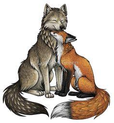 Wolf & Fox by Lyndsey Green
