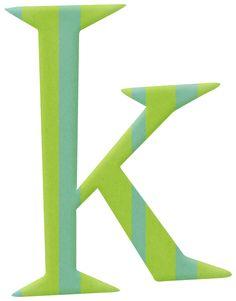 Alfabeto colorido....k