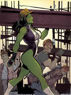 She-Hulk by Tom Fowler and colored by Jordie Bellaire