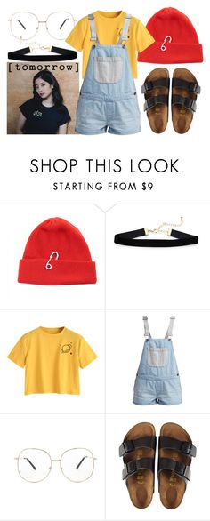 """""""Jelly Jelly"""" by carollinnapetruzco ❤ liked on Polyvore featuring TIBI, Vans, Forever 21 and Birkenstock"""