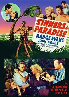 "Synopsis: An airplane cracks up during a storm and crash-lands on an uncharted South Sea island. The pilots are killed, but all nine passengers survive unscathed, including runaway bride Anne Wesson (Madge Evans), fugitive criminal Robert Malone (Bruce Cabot), blonde strumpet Iris Compton (Marion Martin), crooked senator Corey (Gene Lockhart), ""radical"" heiress Thelma Chase (Charlotte Wynters), munitions salesmen Jessup (Don Barry) and Brand (Morgan Conway), and cheerful Chi"