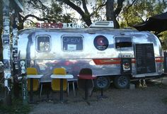 Crepes Mille, one of Austin, Texas' many airstream trailer food trucks.
