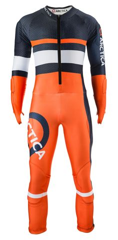 Arctica Racer GS Speed Suit Orange. High quality. Good looking. FIS approved $300 adult/$250 youth.
