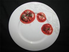 Pinzon TOMATO Salad Plate made for Amazon...4 versions available Ref A