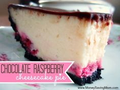 You haven't tried cheesecake until you've tried this Chocolate Raspberry Cheesecake Pie. It's out-of-this-world amazing -- and SO much easier than making a regular homemade cheesecake. You've got to try it!