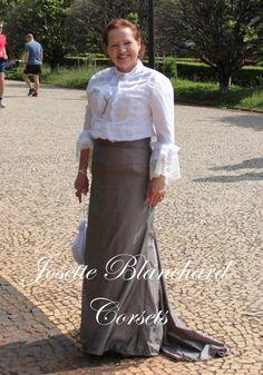 Vestido Eduardiano Realista em algodão, rendas e tafetá ( blusa babada e saia com calda).  Site: http://www.josetteblanchardcorsets.com/ Facebook: https://www.facebook.com/JosetteBlanchardCorsets/ Email: josetteblanchardcorsets@gmail.com josetteblanchardcorsets@hotmail.com