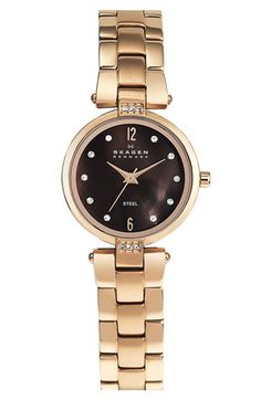 Skagen Round Dial Bracelet Watch   Nordstrom