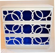 Ikea dresser + mirrors+ o'verlays= stunning