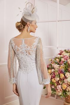 Veni Infantino Mother of the Bride - Ronald Joyce International Mother Of Groom Outfits, Mother Of The Bride Fashion, Mother Of The Bride Dresses Long, Long Mothers Dress, Mothers Dresses, Bridal Gowns, Wedding Gowns, Ronald Joyce, Grey Prom Dress