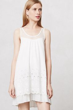 Tiered Eyelet Chemise #anthropologie I really want this. It's so sweet