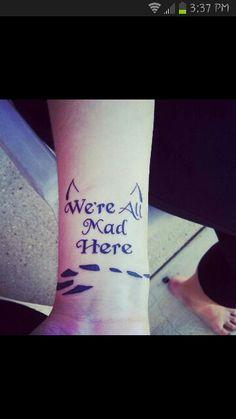 Cheshire cat tattoo! Love