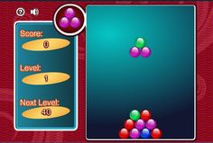Brain Game: Pile Of Balls | Love this one!  It's a little like Tetris. (click through to play)