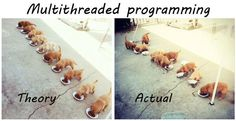 Multithreaded programming - Theory vs Actual