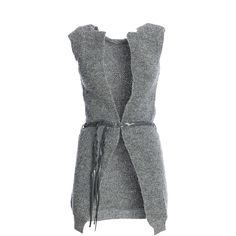 Fracomina Vest ($92) ❤ liked on Polyvore featuring outerwear, vests, vest, wool waistcoat, fracomina, long waistcoat, wool vest and long vest